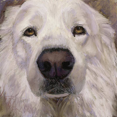 Painting - Yes I'm A Great Pyrenees by Billie Colson