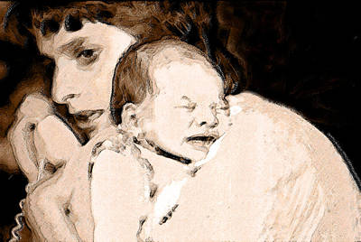 Portrait Painting - Yes Mum And Then by Arie Van Garderen