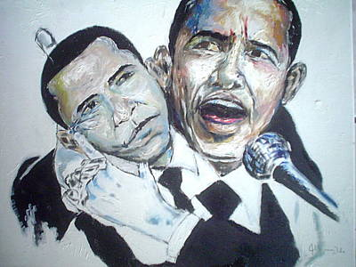 Barrack Obama Painting - Yes We Can by Jharoam Welz