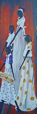 Gullah Art Painting - Yes We Can by Sonja Griffin Evans