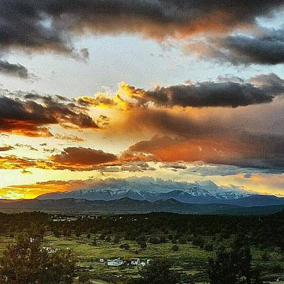 Sunset Photograph - Mountain Sunset by Joan McCool
