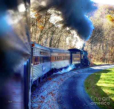 Yesterday By Train  Art Print by Steven Digman
