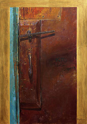 Victoria Painting - Yesterday. First Part Of Diptych ''golden Key'' by Victoria Kharchenko