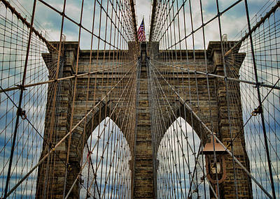 Yesterday Today  And Tomorrow - Brooklyn Bridge Art Print