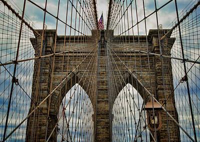 Brooklyn Bridge Photograph - Yesterday Today  And Tomorrow - Brooklyn Bridge by Stephen Stookey