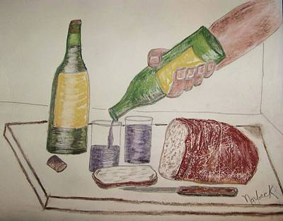 Drawing - Yesterday's Bread by Thomas J Norbeck