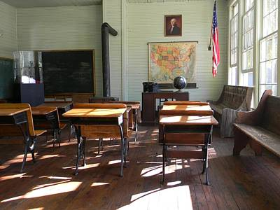 Yesterdays Classroom Shadows Original by Warren Thompson