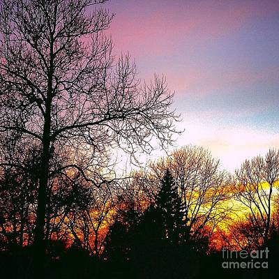 Frank J Casella Royalty-Free and Rights-Managed Images - Yesterdays Sky by Frank J Casella