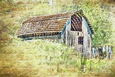 Photograph - Yesteryear Barn by Jean OKeeffe Macro Abundance Art