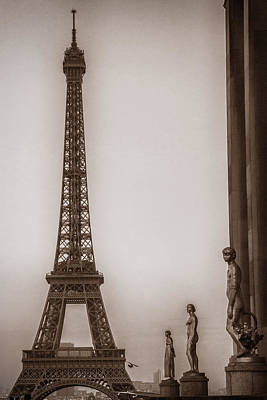 Bleached Tree Photograph - Yesteryear Eiffel by Andrew Soundarajan