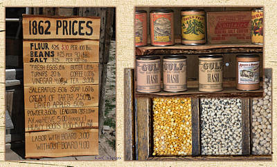 Canned Goods Digital Art - Yesteryear Groceries by Kae Cheatham