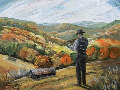 Painting - Yew Pine Mountain by Paula Blasius McHugh