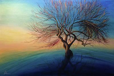 Yggdrasil Painting - Yggdrasil / Original Oil Painting Canvas On Hardboard. by Svetoyara Rysenko
