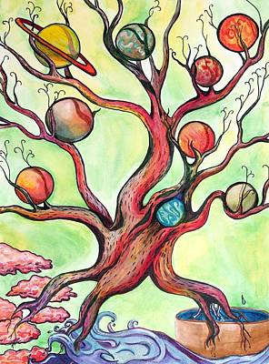 Painting - Yggdrasil by Starr Weems