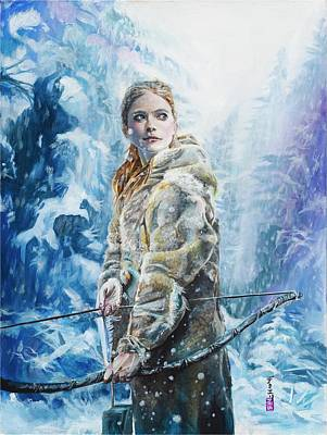 Painting - Ygritte The Wilding by Baroquen Krafts