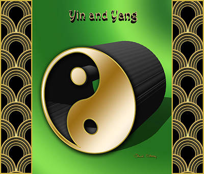 Digital Art - Yin And Yang - 3 D by Chuck Staley