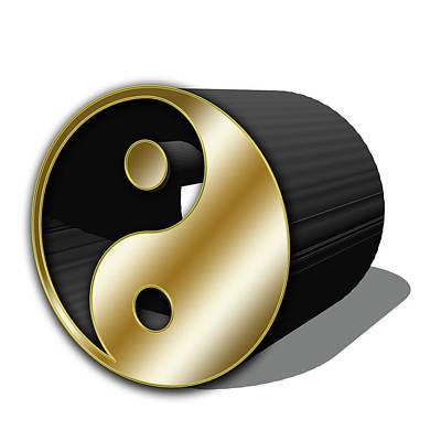 Digital Art - Yin And Yang Cylinder by Chuck Staley