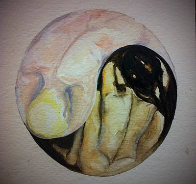 Tantra Drawing - Yin And Yang by Sky Schulz