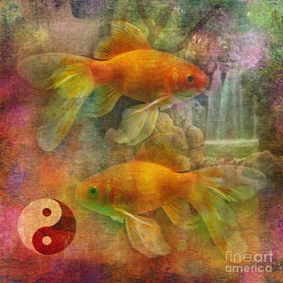 Digital Art - Yin Yang 2015 by Kathryn Strick
