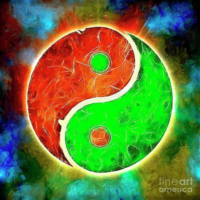 Yin Yang - Artwork Fusion Art Print