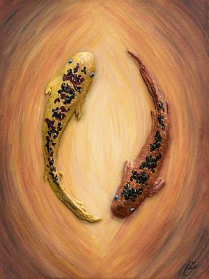 Painting - Yin Yang Koi - One by Lori Grimmett