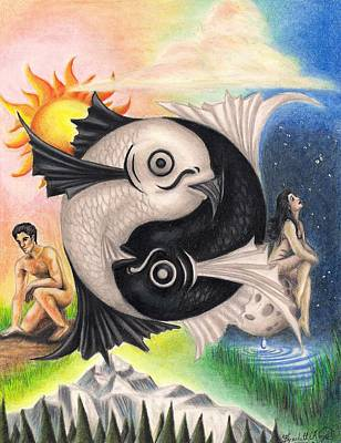 Yin-yang Art Print by Scarlett Royal