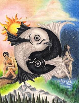 Yin-yang Art Print