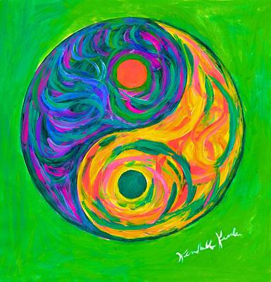 Painting - Yin Yang Spring by Kendall Kessler