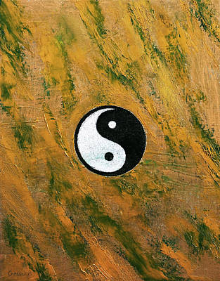 Contemporary Symbolism Painting - Yin Yang Stone by Michael Creese