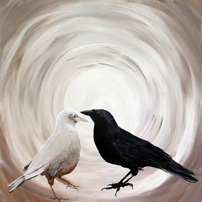 Painting - Yin  Yang by Su Nimon