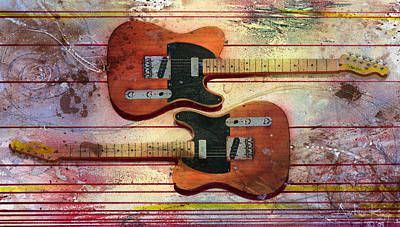 Art Print featuring the painting Yin-yang Teles by Andrew King