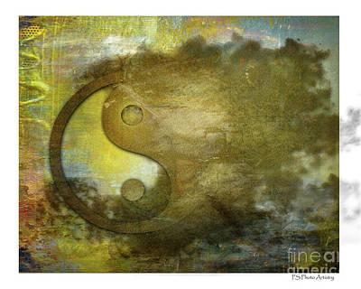 Ying And Yang Unbalanced Art Print
