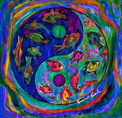 Painting - Yin Yang Fish by Kendall Kessler