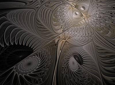 Ying-yang Moth Art Print by Elena Ivanova IvEA