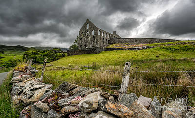 Dilapidated Digital Art - Ynys-y-pandy Slate Mill by Adrian Evans
