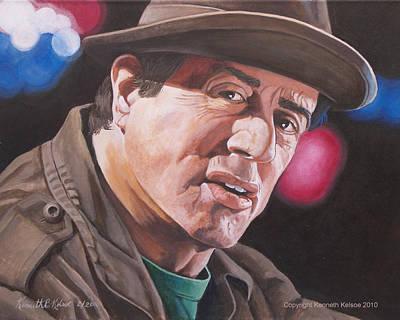 Stallone Painting - Yo Adrien by Kenneth Kelsoe