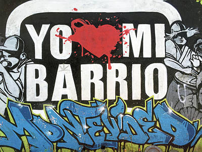 Photograph - Yo Heart Mi Barrio No. 52-1 by Sandy Taylor