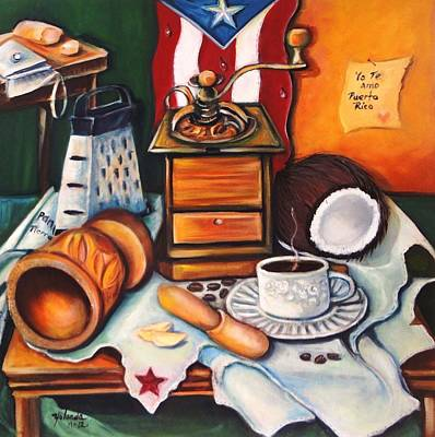 Art Print featuring the painting Yo Te Amo Puerto Rico by Yolanda Rodriguez