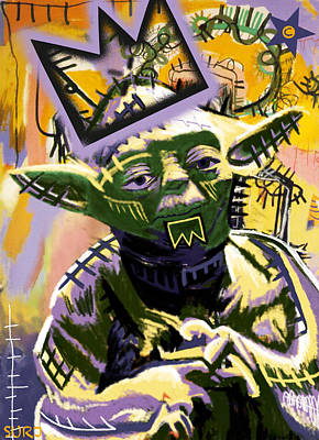 Neo Expressionism Mixed Media - Yoda 1981 by Surj LA
