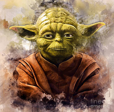 Painting - Yoda Art by Ian Mitchell