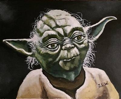 Painting - Yoda by Justin Lee Williams