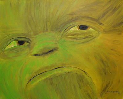 Yoda Painting - Yoda Selfie by Ken Figurski