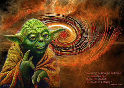 Mixed Media - Yoda-no Fear by Michael Durst