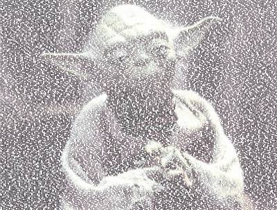 Yoda Quotes Mosaic Art Print