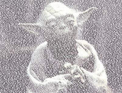 Yoda Quotes Mosaic Art Print by Paul Van Scott