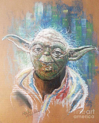 Wall Art - Painting - Yoda by Raul Alsina