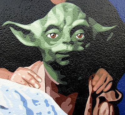 Valdes Painting - Yoda by Roberto Valdes Sanchez