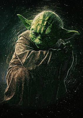 Han Digital Art - Yoda by Semih Yurdabak