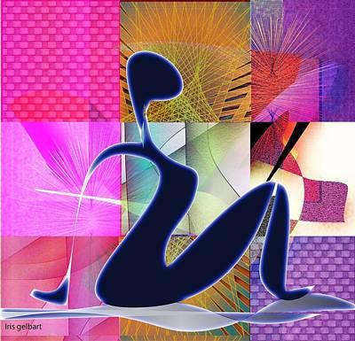 Digital Art - Yoga  8 by Iris Gelbart