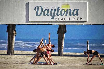Photograph - Yoga On The Beach by Alice Gipson